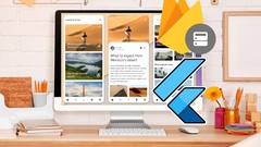 Flutter Firebase Blog App (iOS & Android Complete App 2020) cover