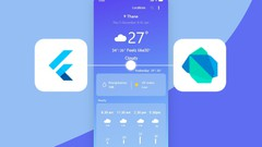 Flutter Complete with Dart, Firebase & built Weather App cover